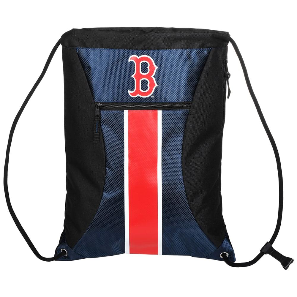 BOSTON RED SOX Stripe Zipper Drawstring Backpack - BLUE
