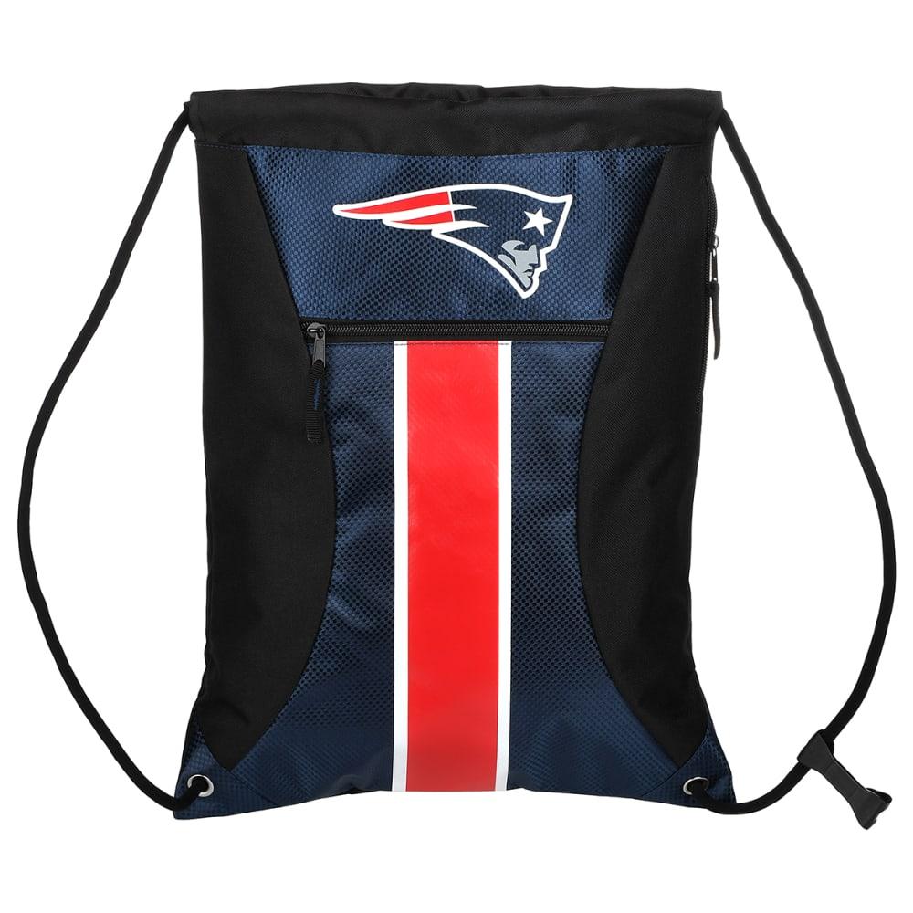 NEW ENGLAND PATRIOTS Stripe Zipper Drawstring Backpack - BLUE