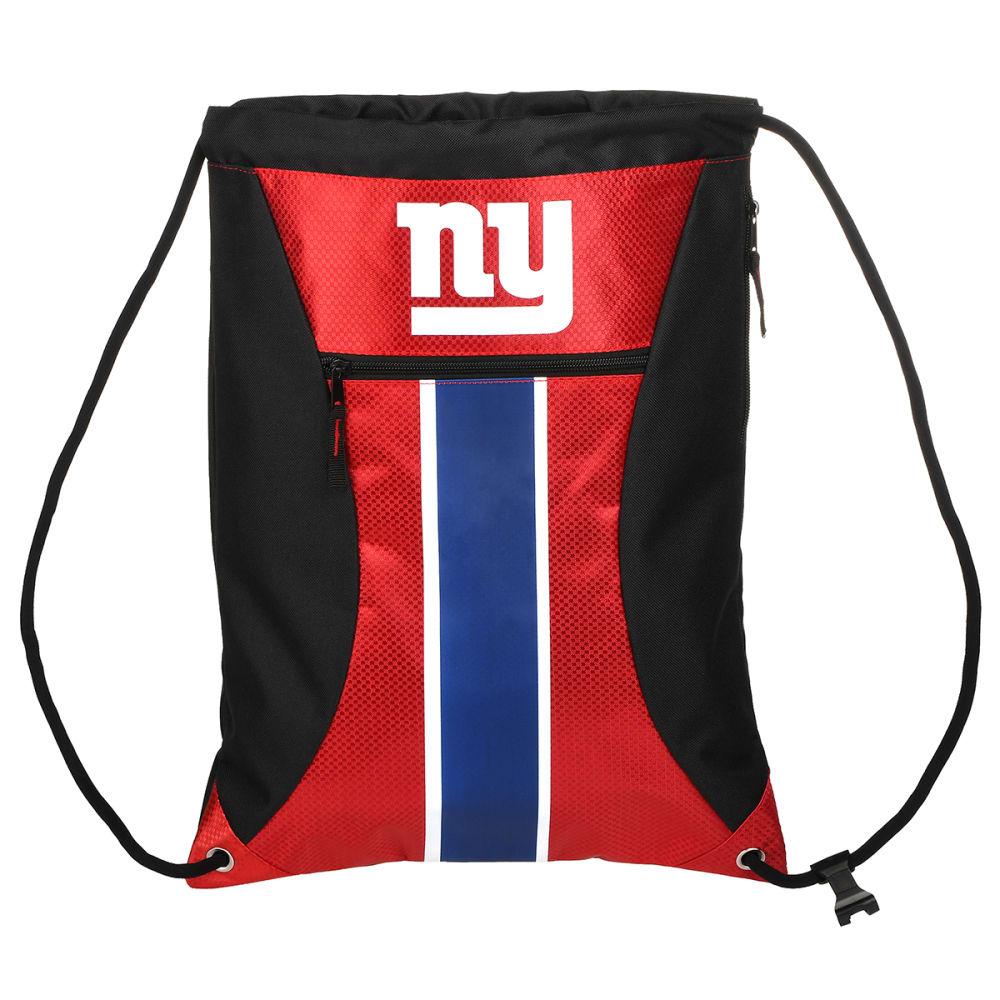 NEW YORK GIANTS Stripe Zipper Drawstring Backpack - BLUE