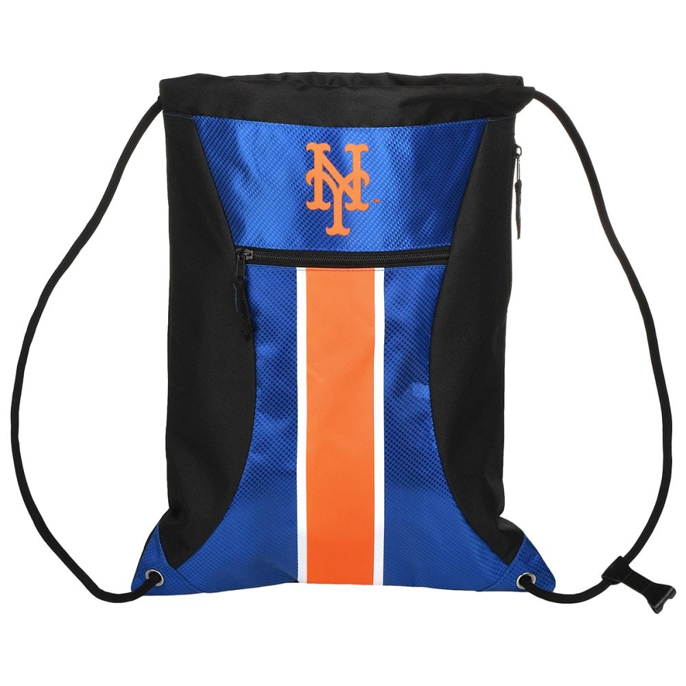 NEW YORK METS Stripe Zipper Drawstring Backpack - BLUE