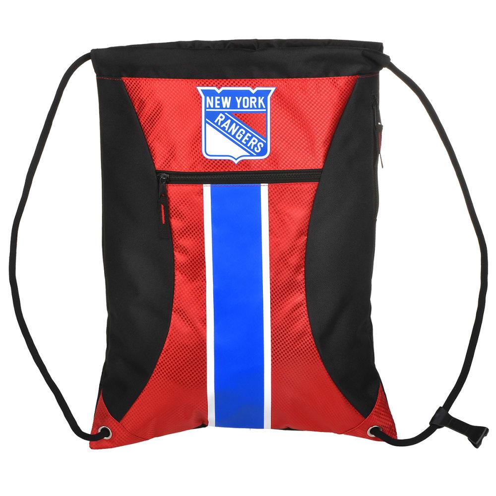 NEW YORK RANGERS Stripe Zipper Drawstring Backpack - BLUE