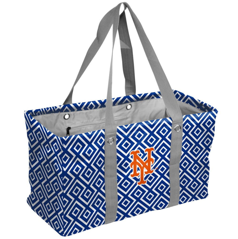 NEW YORK METS Double Diamond Picnic Caddy Tote - BLUE