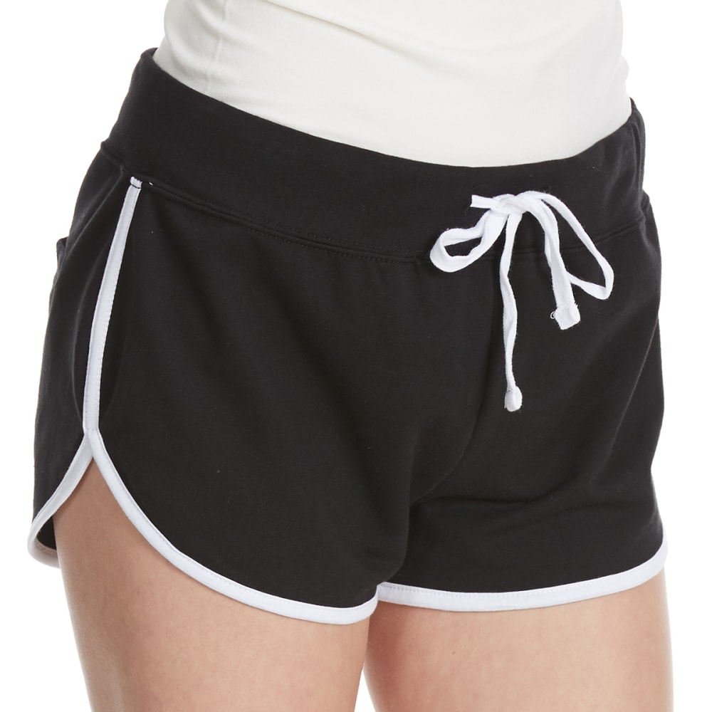 AMBIANCE Juniors' Contrasted Active Shorts - BLACK/WHITE