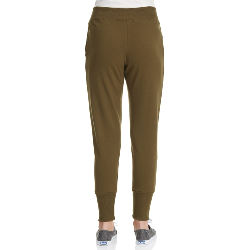 AMBIANCE Juniors' Lace Up Front Jogger Pants - OLIVE