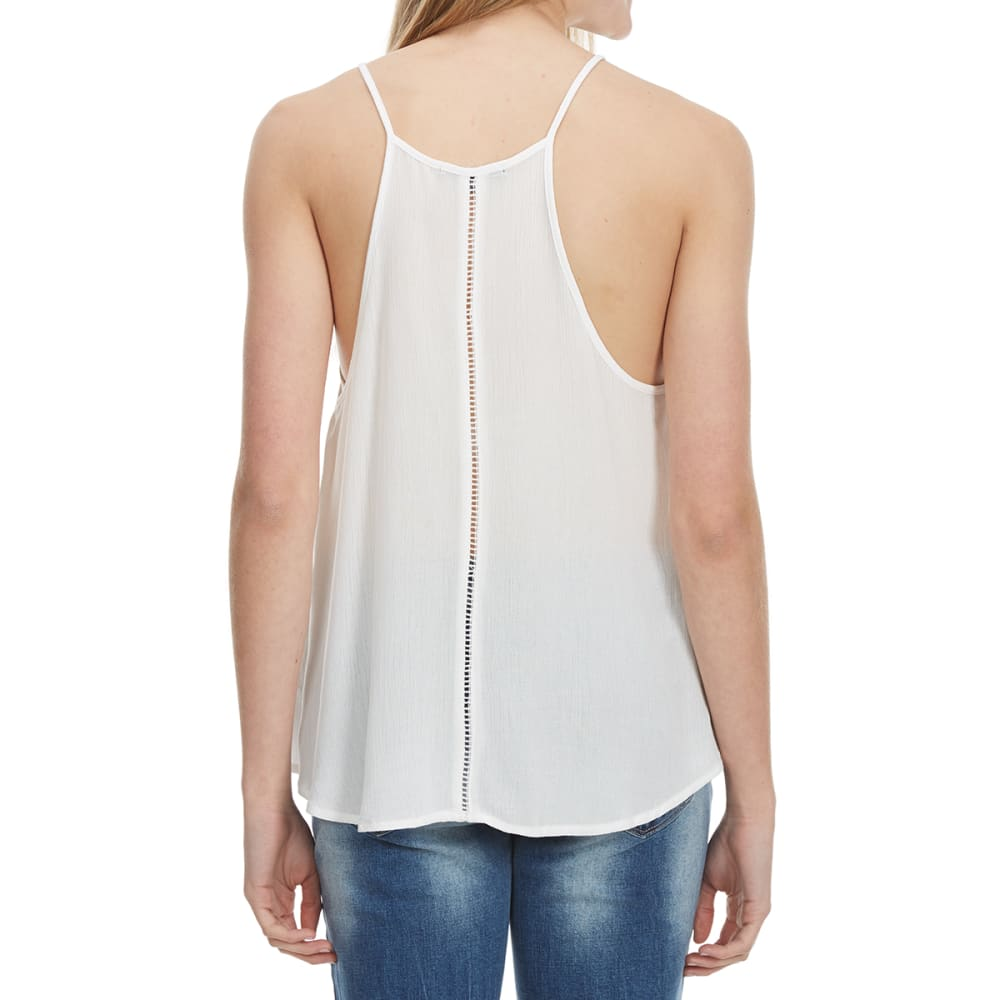 AMBIANCE Juniors' Flare Ladder Back Cami - OFFWHITE