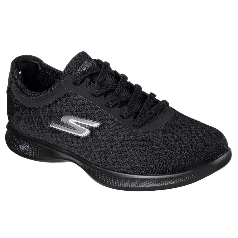 SKECHERS Women's Go-Step Lite-Dashing Sneakers, Black 6