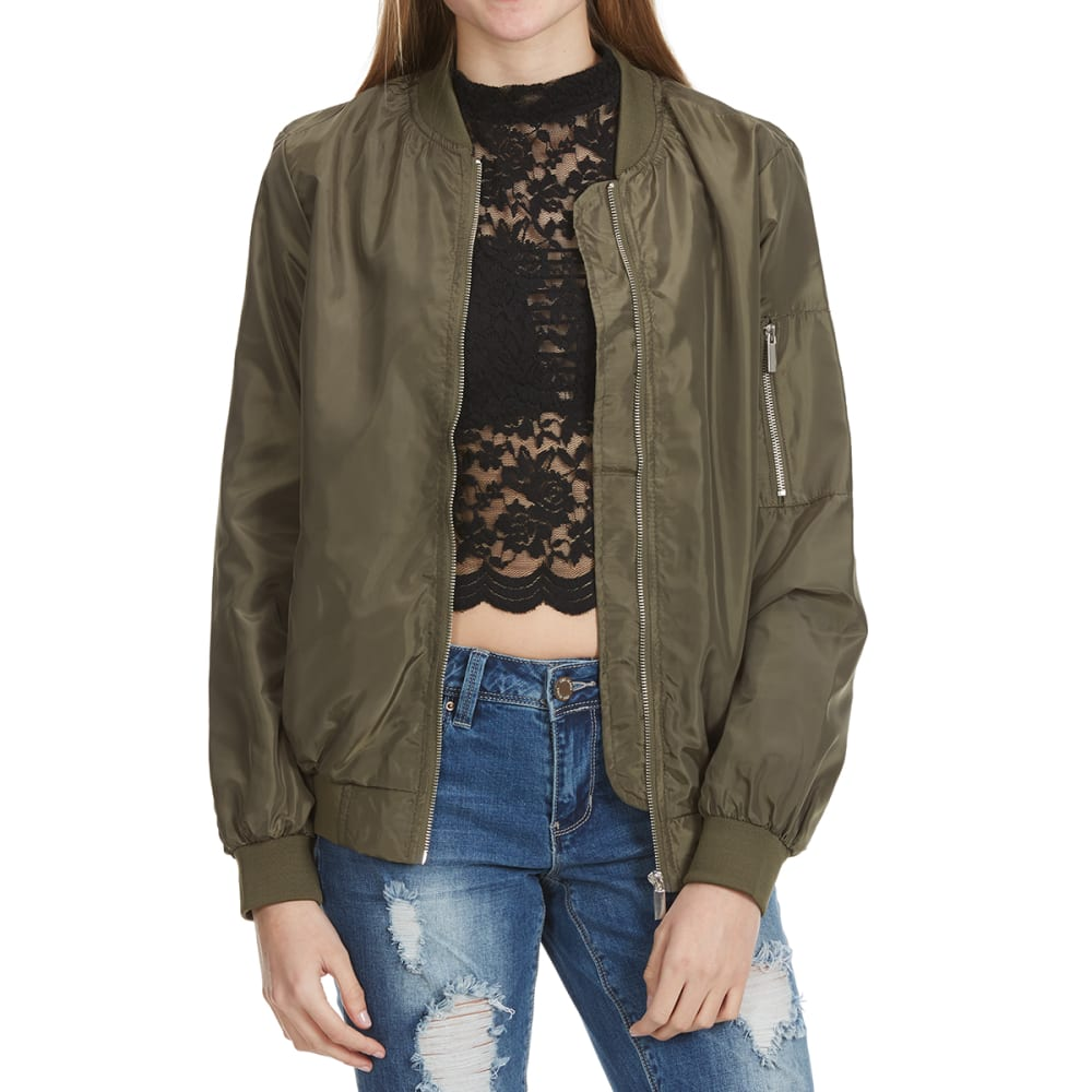 AMBIANCE Juniors' Solid Bomber Jacket S