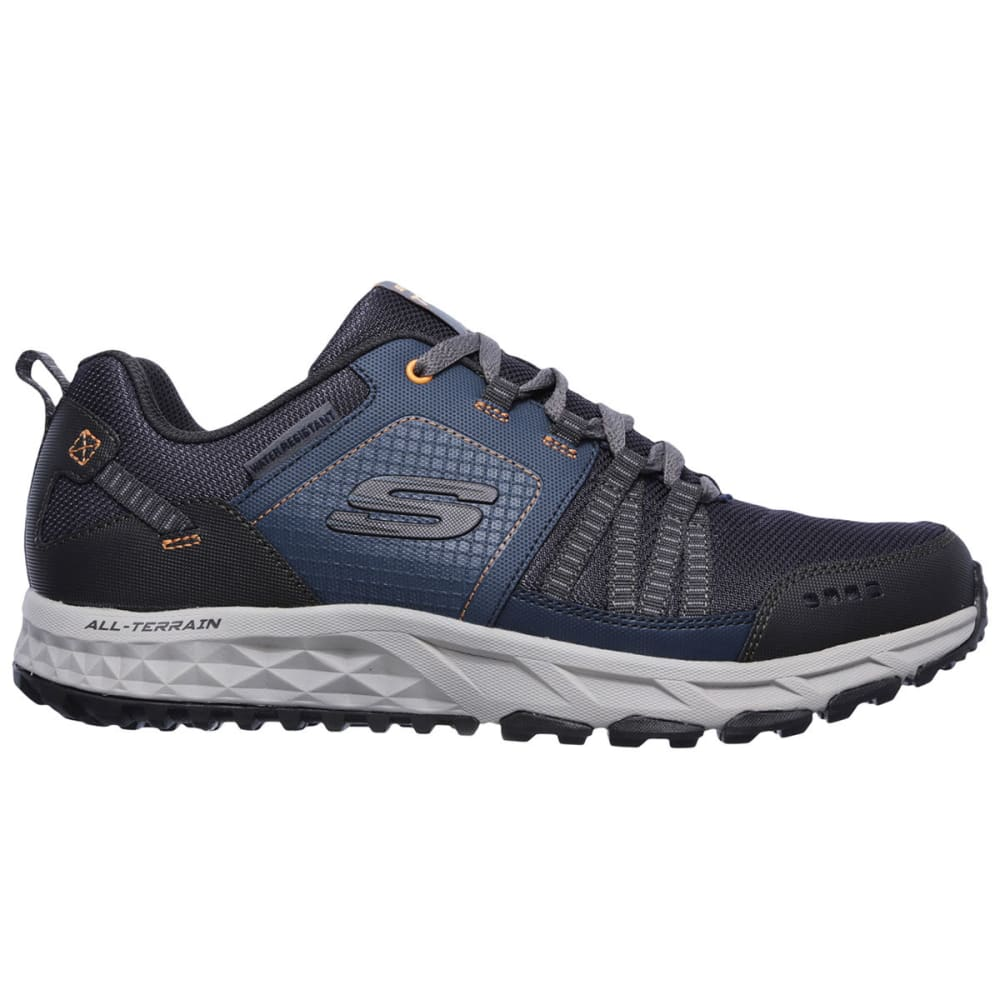 SKECHERS Men's Escape Plan Trail Shoes, Navy/Orange - NAVY