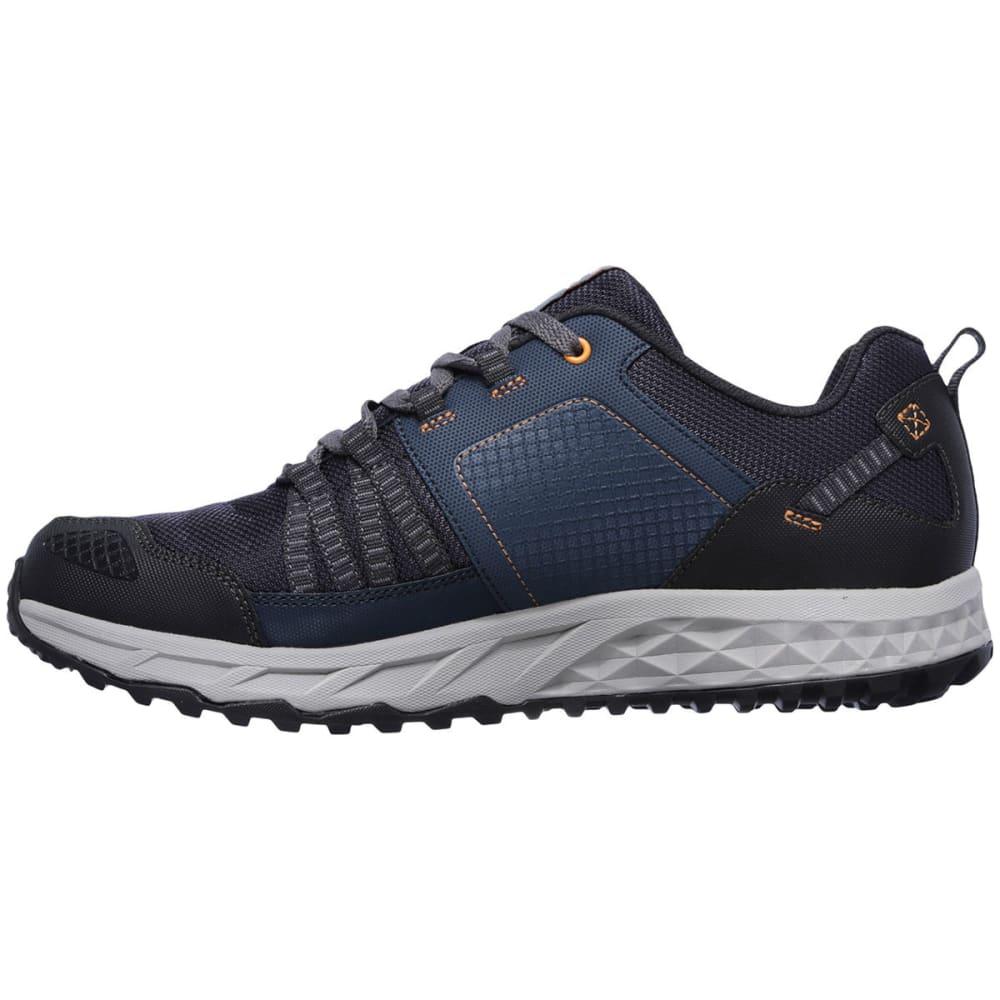 SKECHERS Men's Escape Plan Trail Shoes, Navy/Orange - NAVY
