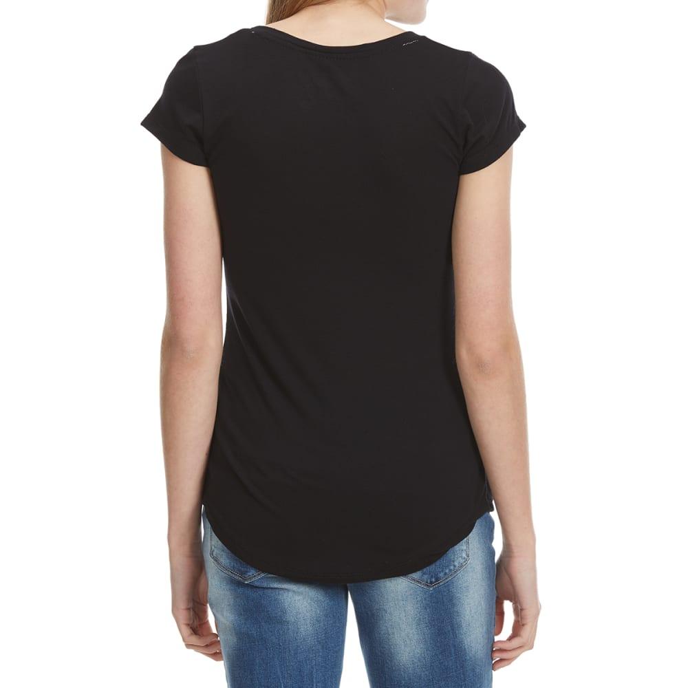 POOF Juniors' Pocket Short-Sleeve Tee - BLACK