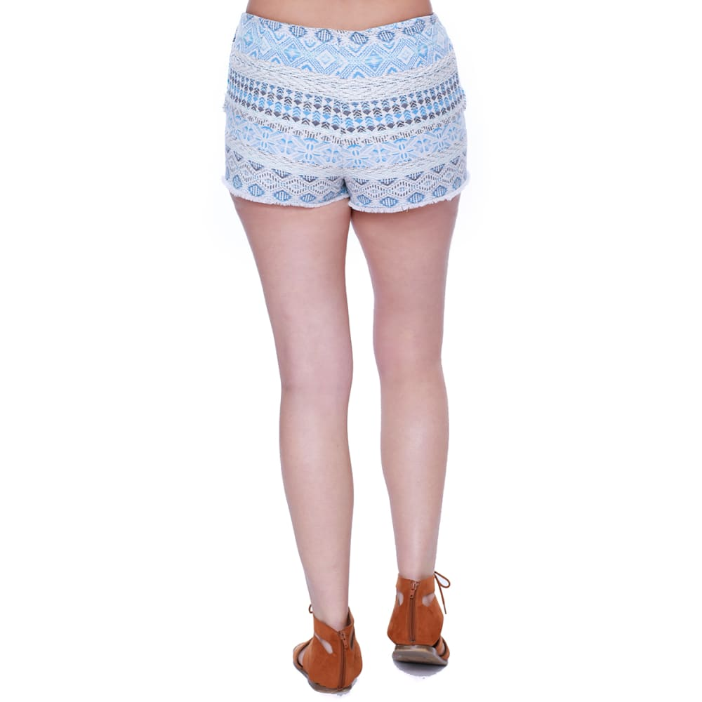 TAYLOR & SAGE Juniors' Lace Overlay Shorts - BLE-BLUE