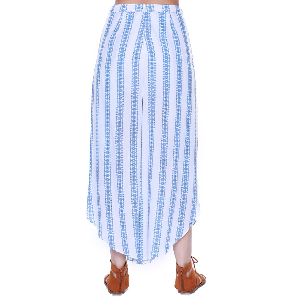 TAYLOR & SAGE Juniors' Striped Tulip Leg Pants - CLW-CLEAN WHITE