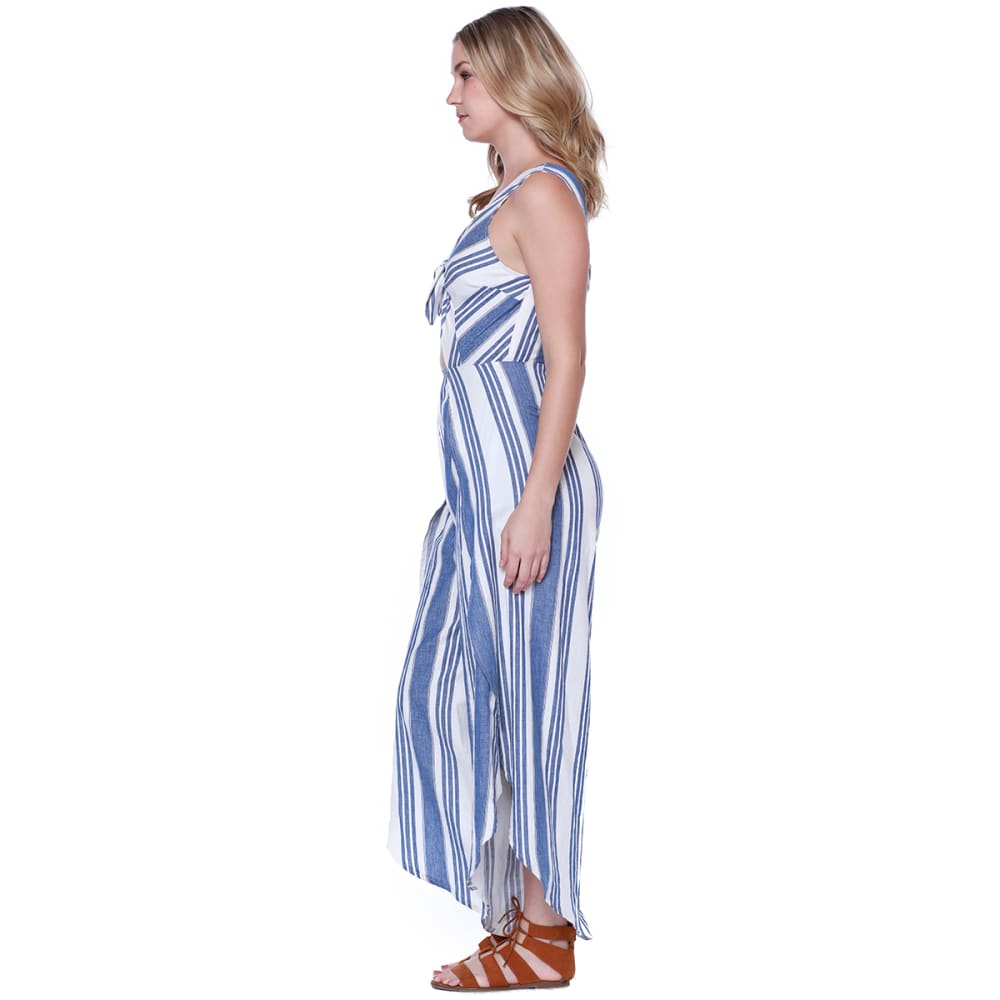TAYLOR & SAGE Juniors' Stripe Tulip Leg Jumper - BLE-BLUE