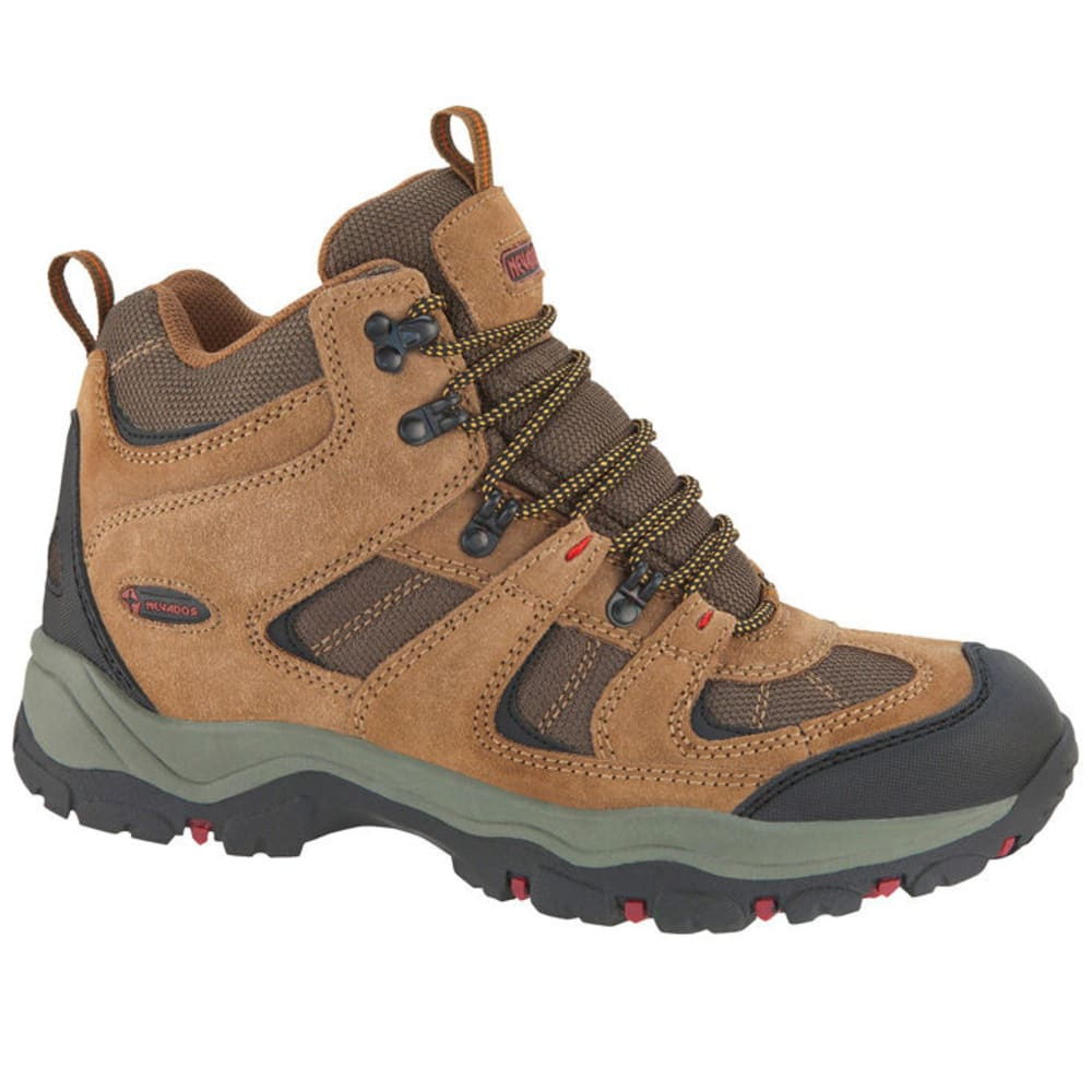 NEVADOS Men's Boomerang II Mid Hiking Boots, Wide - BROWN