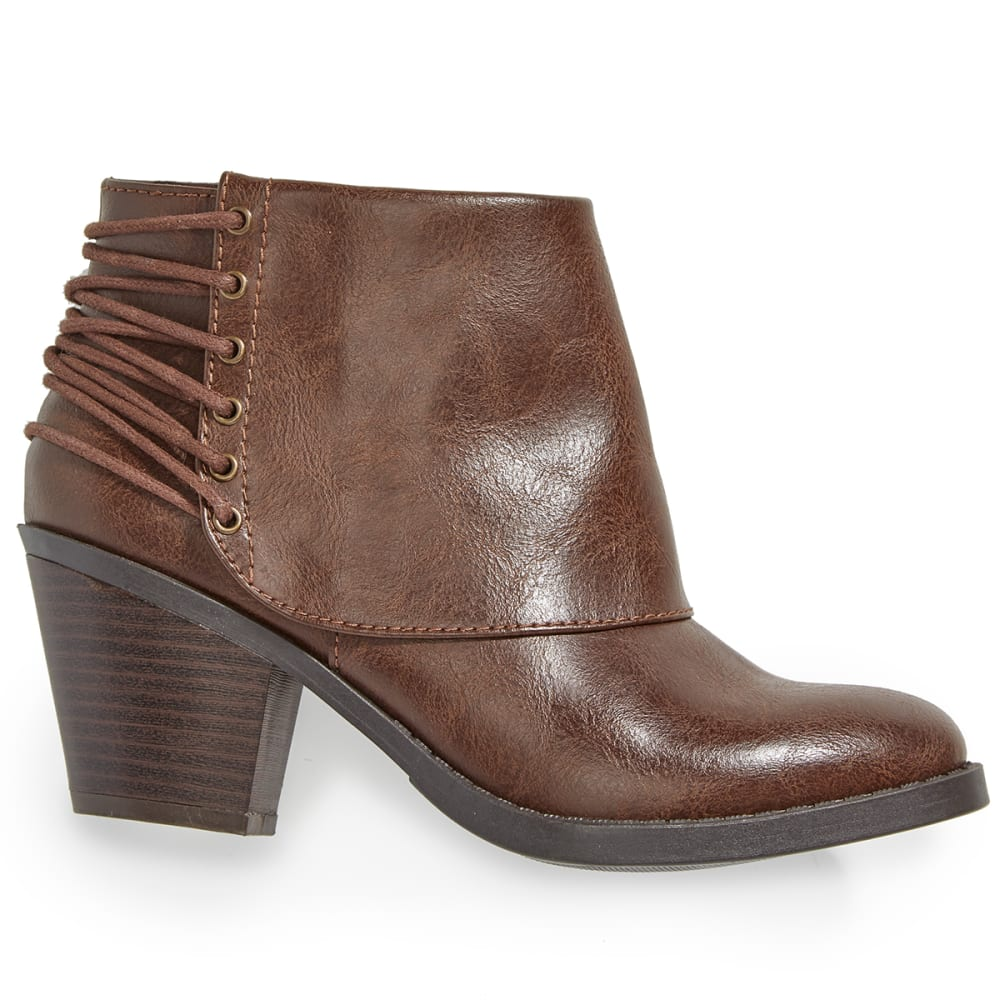 RAMPAGE Women's Tailspin Ankle Boots - DARK BROWN