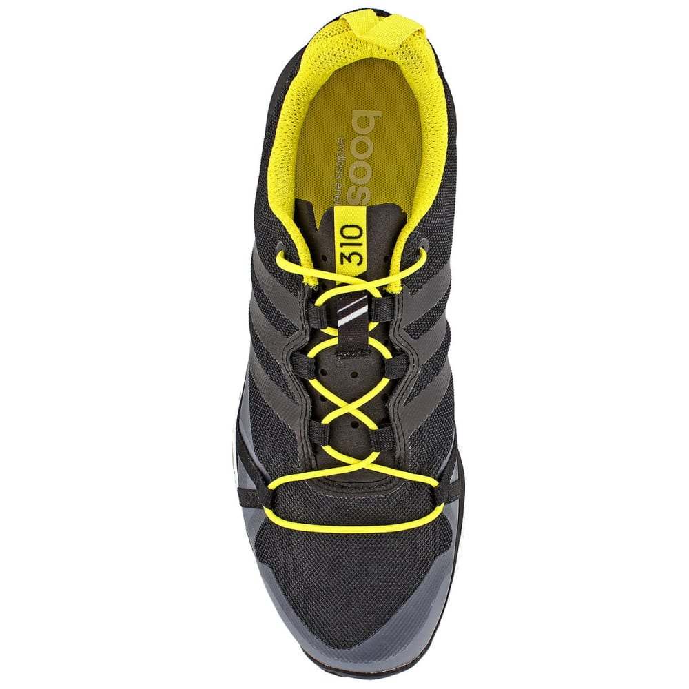 ADIDAS Men's Terrex Agravic Trail Running Shoes, Black/Yellow - GREY/BLACK/YELLOW