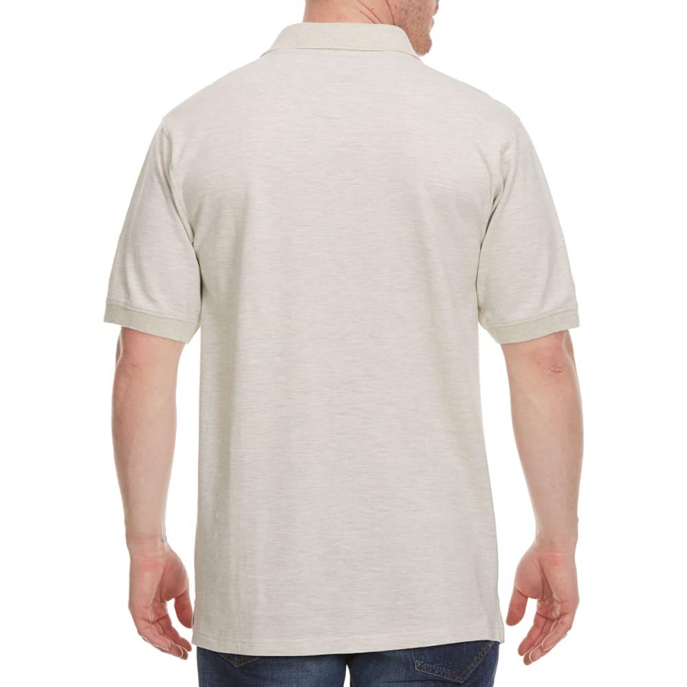 BCC Men's Short Sleeve Pique Polo, Past Season - OATMEAL HTR