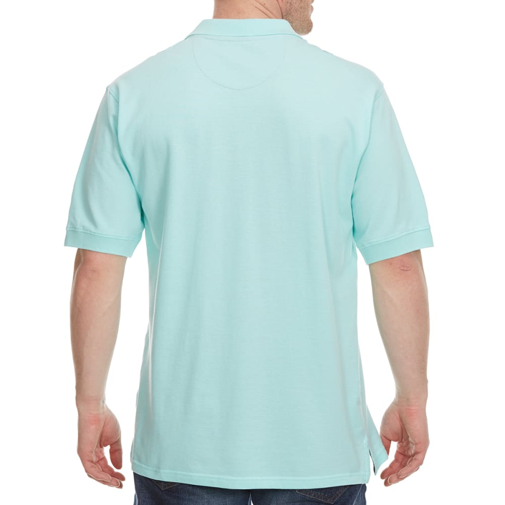 BCC Men's Short Sleeve Pique Polo - ARUBA BLUE