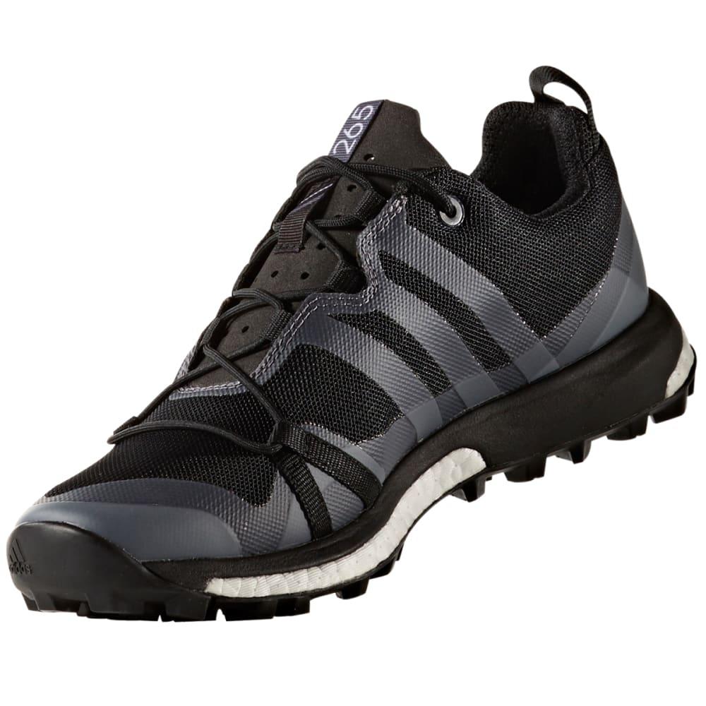 ADIDAS Women's Terrex Agravic Trail Running Shoes, Utility Black/Black/Trace Grey - BLACK/BLACK/GREY