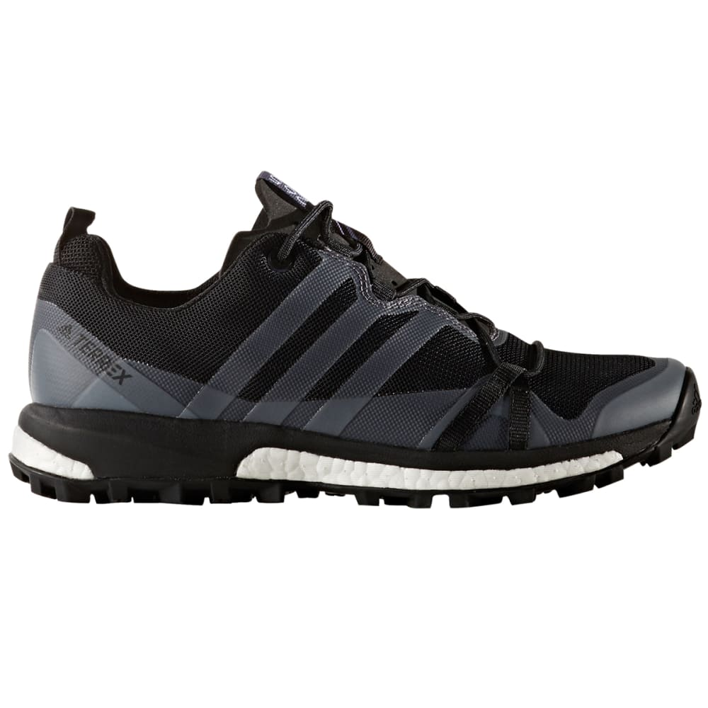 ADIDAS Women's Terrex Agravic Trail Running Shoes, Utility Black/Black/Trace Grey 5