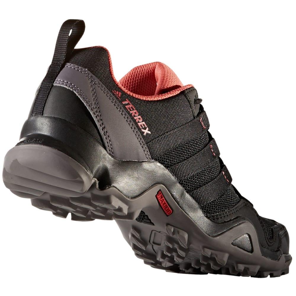 ADIDAS Women's Terrex AX2R Hiking Shoes, Black/Tactile Pink - BLACK/BLACK/PINK