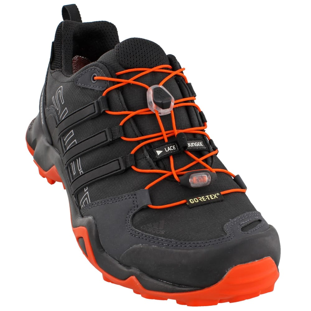 ADIDAS Men's Terrex Swift R GTX Outdoor Shoes - BLACK/BLACK/ENERGY