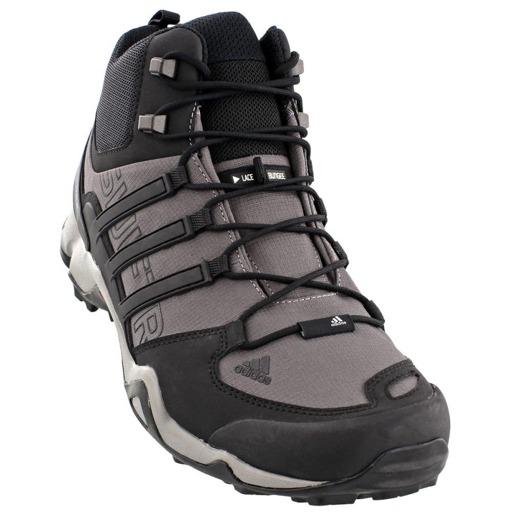 ADIDAS Men's Terrex Swift R Mid Hiking Boots, Granite/Black/CH Solid Grey - GRANITE/BLACK/GREY