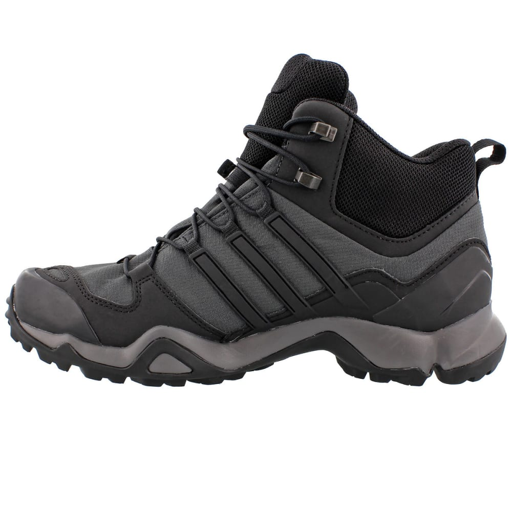 ADIDAS Men's Terrex Swift R Mid GTX Hiking Shoes, Grey - GREY/BLACK/GRANITE