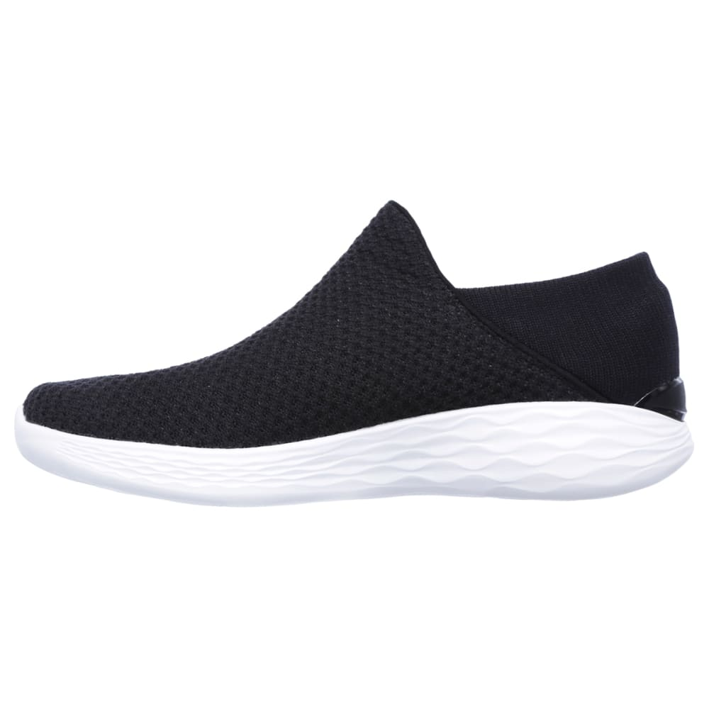SKECHERS Women's You Sneakers, Black/White - BLACK
