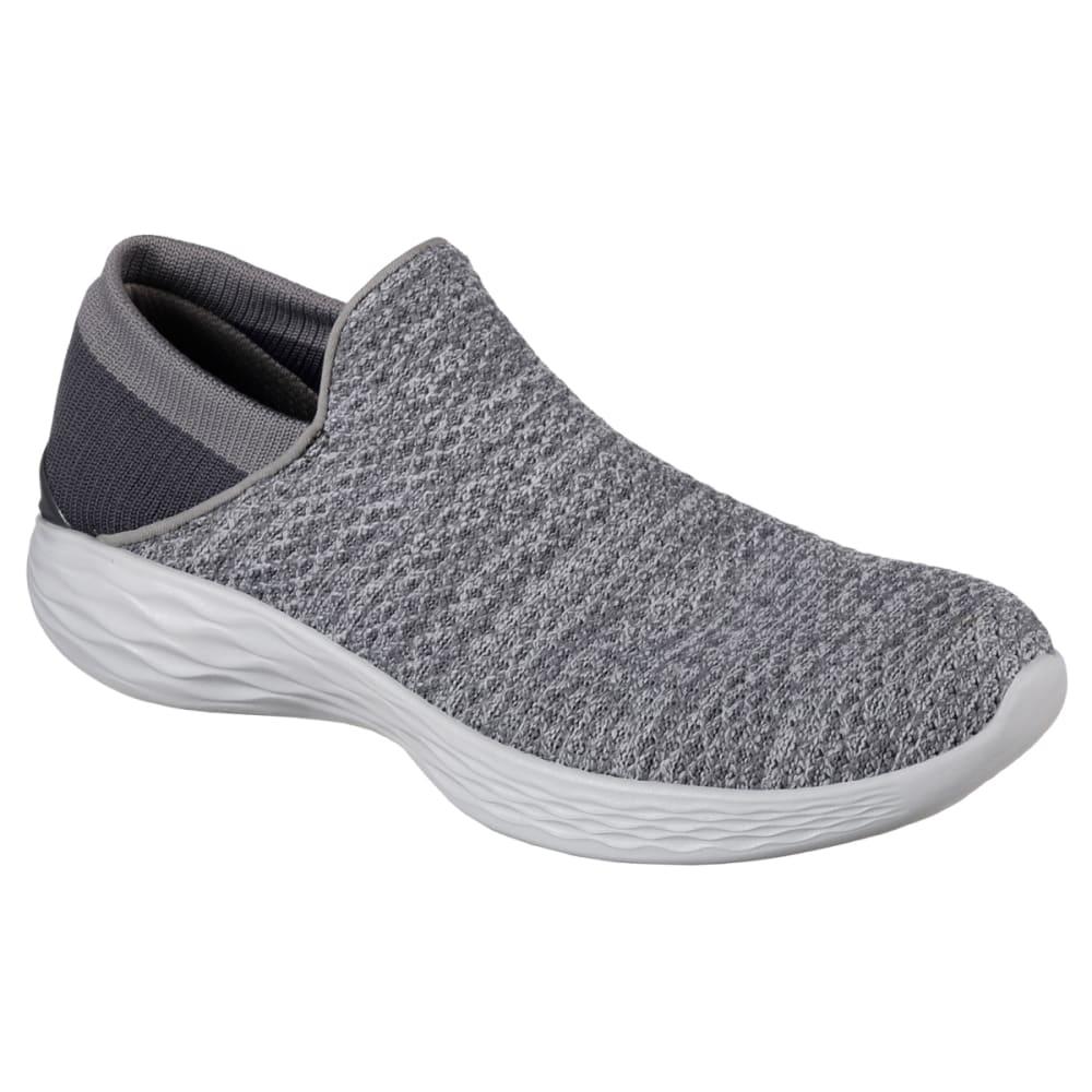 Skechers Women's You Sneakers, Charcoal - Black, 6.5