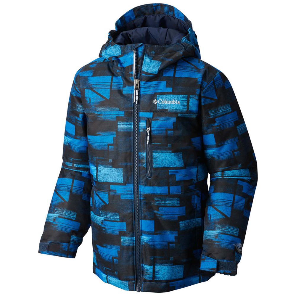 COLUMBIA Boys' Magic Mile Jacket - 438-SUPER BLUE GEO P