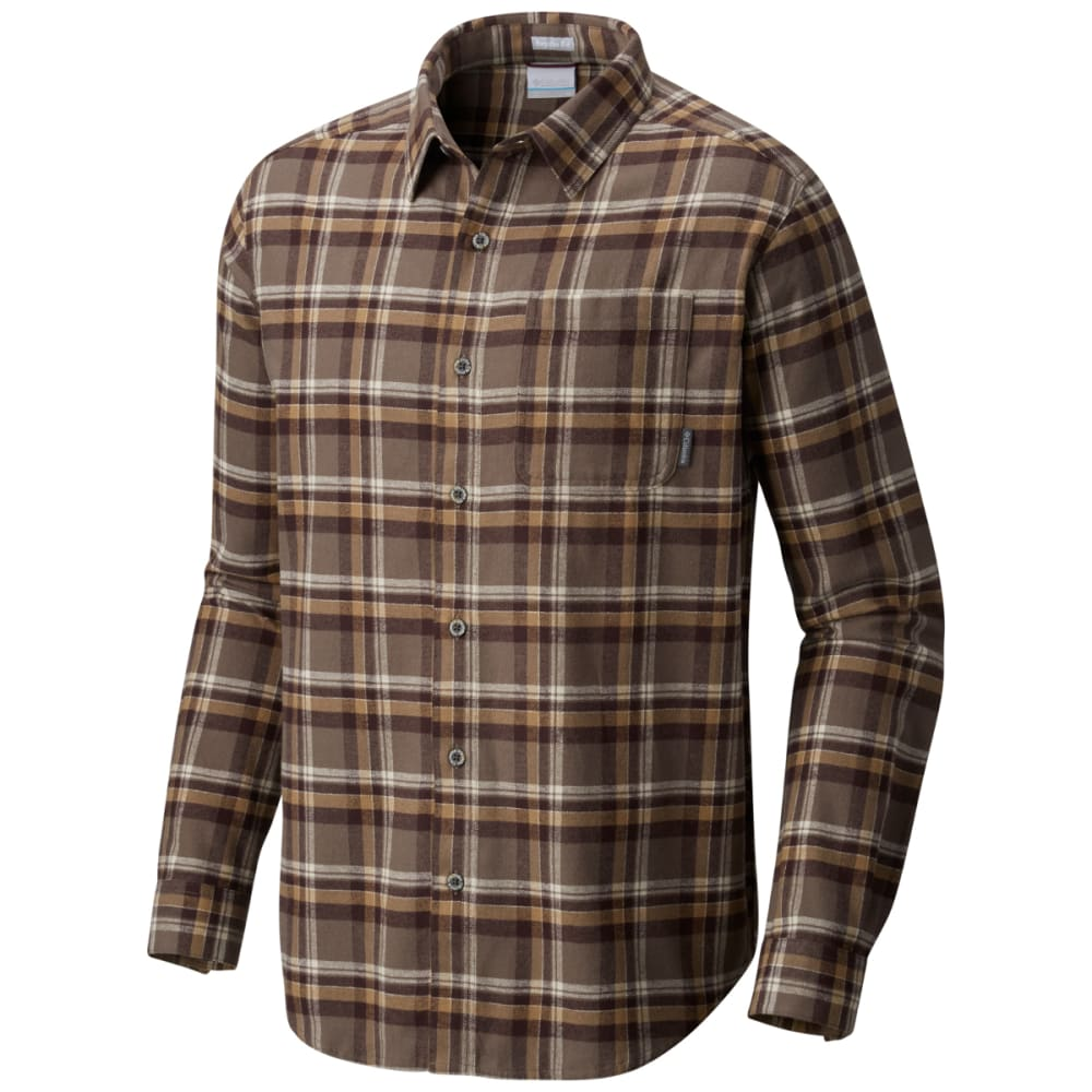 COLUMBIA Men's Boulder Ridge Long-Sleeve Flannel Shirt - 245-MAJOR TRAD PLAID