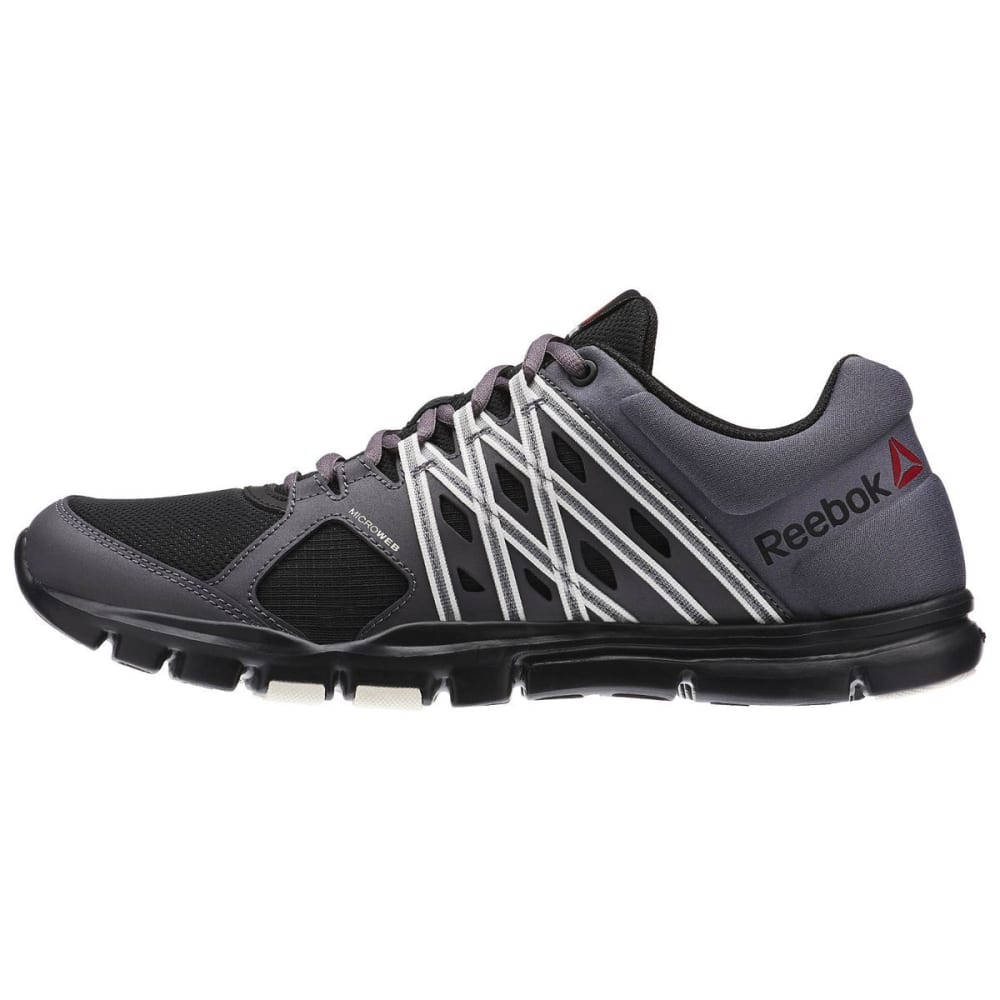 REEBOK Men's Yourflex Train 8.0 LMT Training Sneakers - GREY/BLK