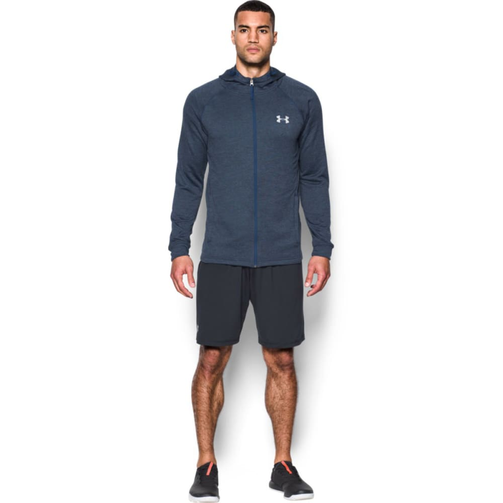UNDER ARMOUR Men's Tech Terry Fitted Full Zip Jacket - BLACKOUT NVY HTR-997