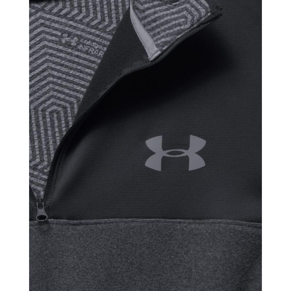 UNDER ARMOUR Men's ColdGear Infrared Fleece 1/4 Zip Pullover - BLACK/GRAPHITE-001