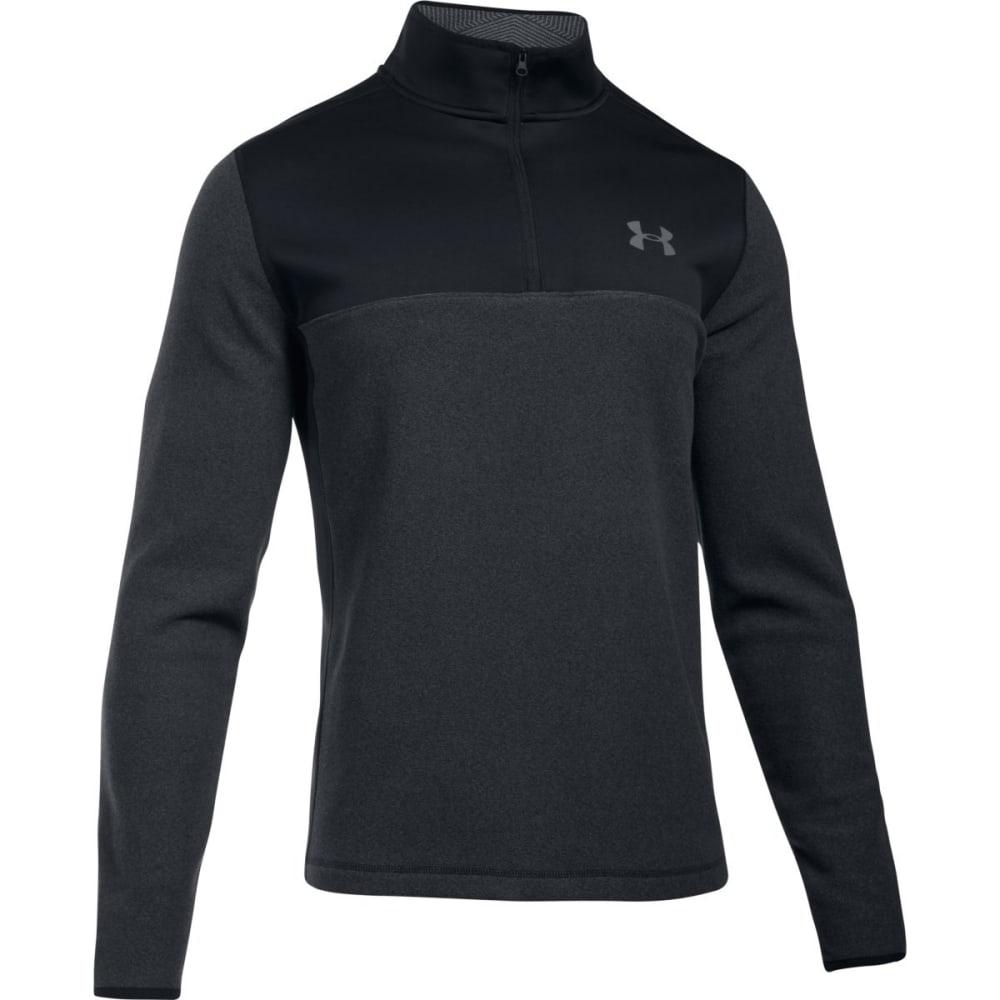 UNDER ARMOUR Men's ColdGear® Infrared Fleece ¼-Zip Pullover - BLACK/GRAPHITE-001