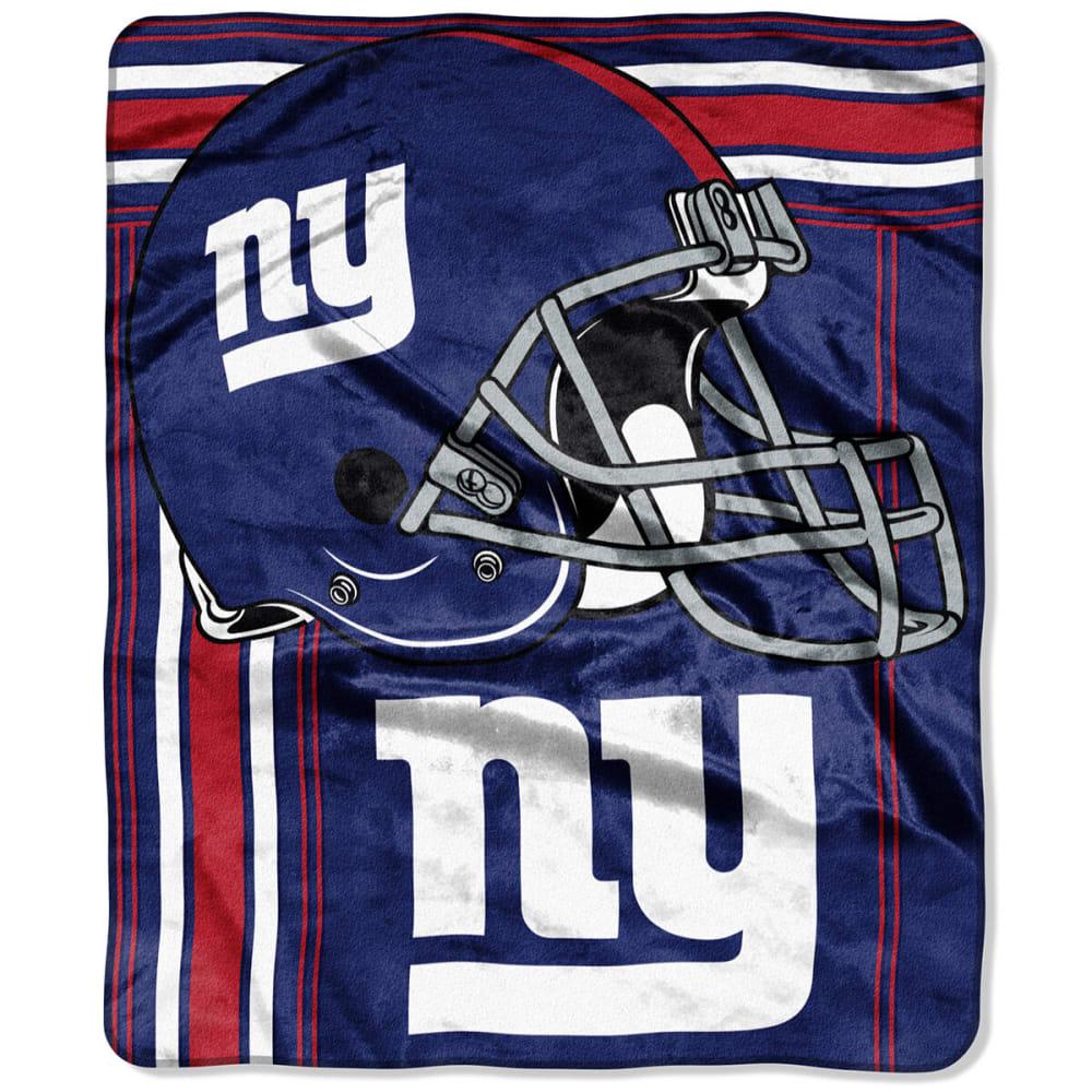 NEW YORK GIANTS Touchback Raschel Throw Blanket ONESIZE