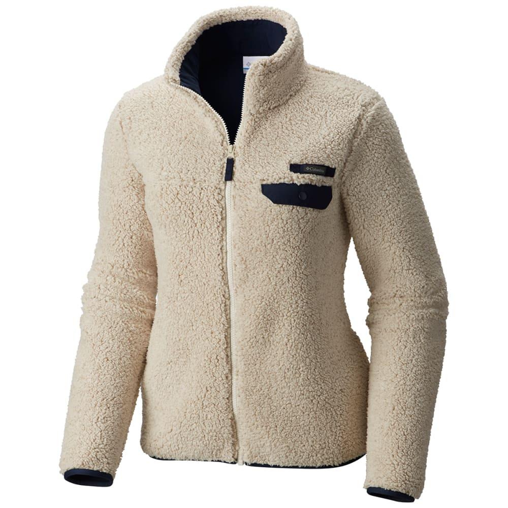 COLUMBIA Women's Mountain Side Heavyweight Fleece Full Zip Jacket - 193-CHALK/COLLEGIATE
