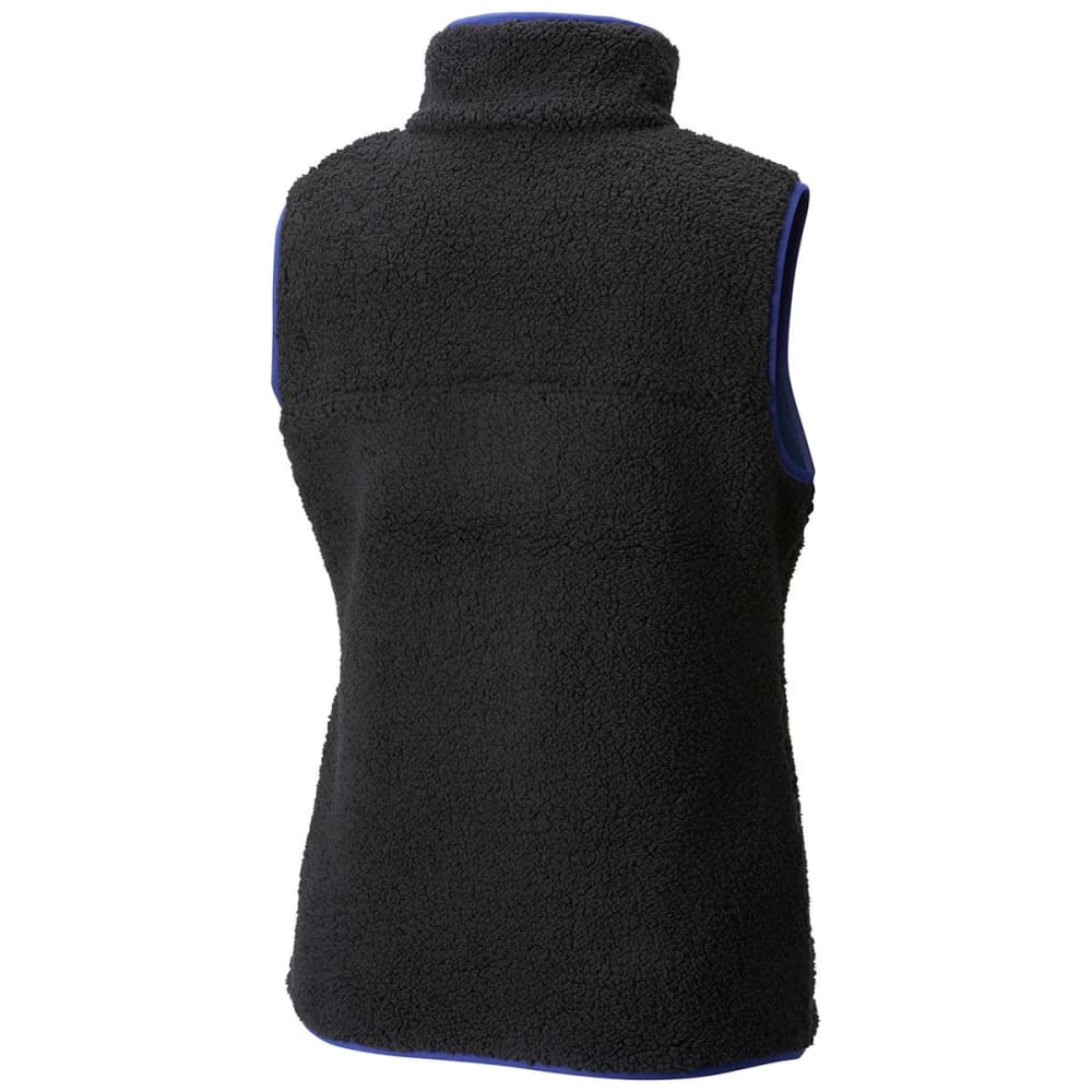 COLUMBIA Women's Mountain Side Heavyweight Fleece Vest - 010-BLACK/DYNASTY