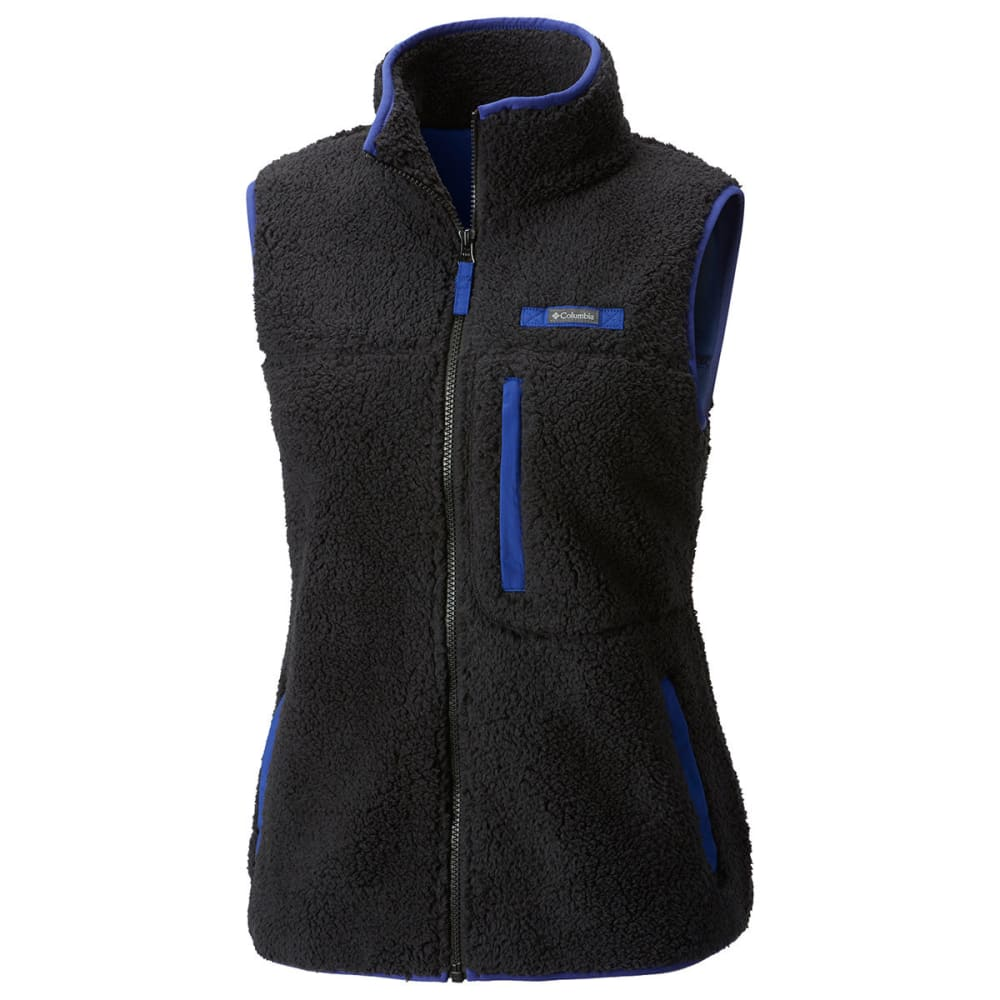 Columbia Women's Mountain Side Heavyweight Fleece Vest - Black, S