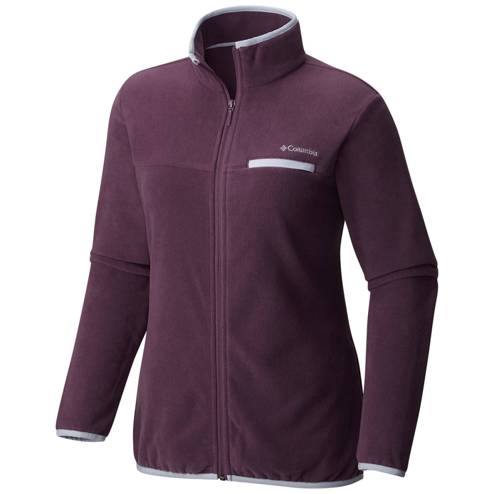 COLUMBIA Women's Mountain Crest™ Full-Zip Fleece Jacket - 500-DUSTY PURPLE HTH