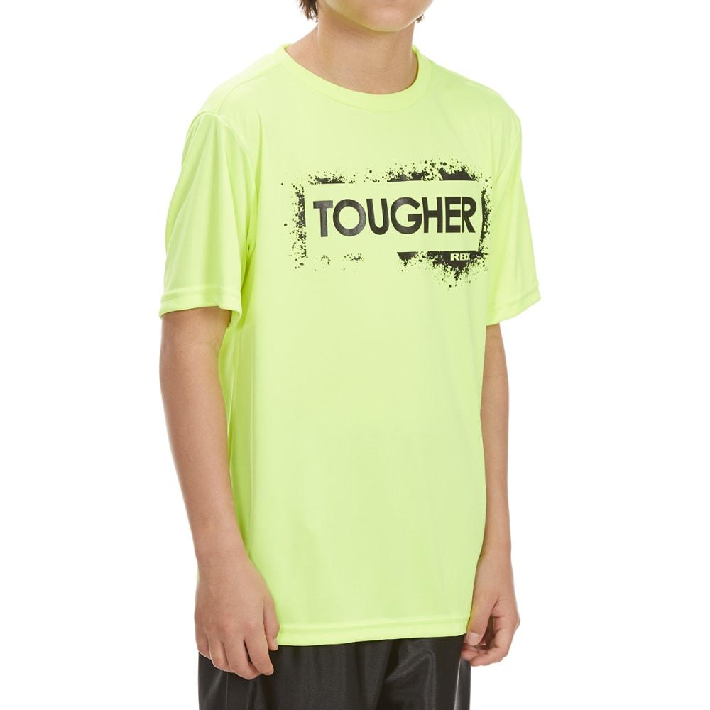 "RBX Boys' ""Tougher"" Short-Sleeve Tee - NEON YELLOW"