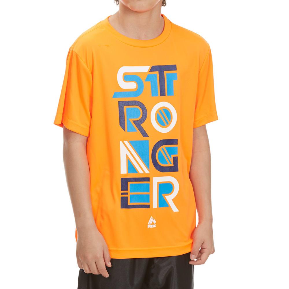 "RBX Boys' ""Stronger"" Short-Sleeve Tee - NEON ORANGE"