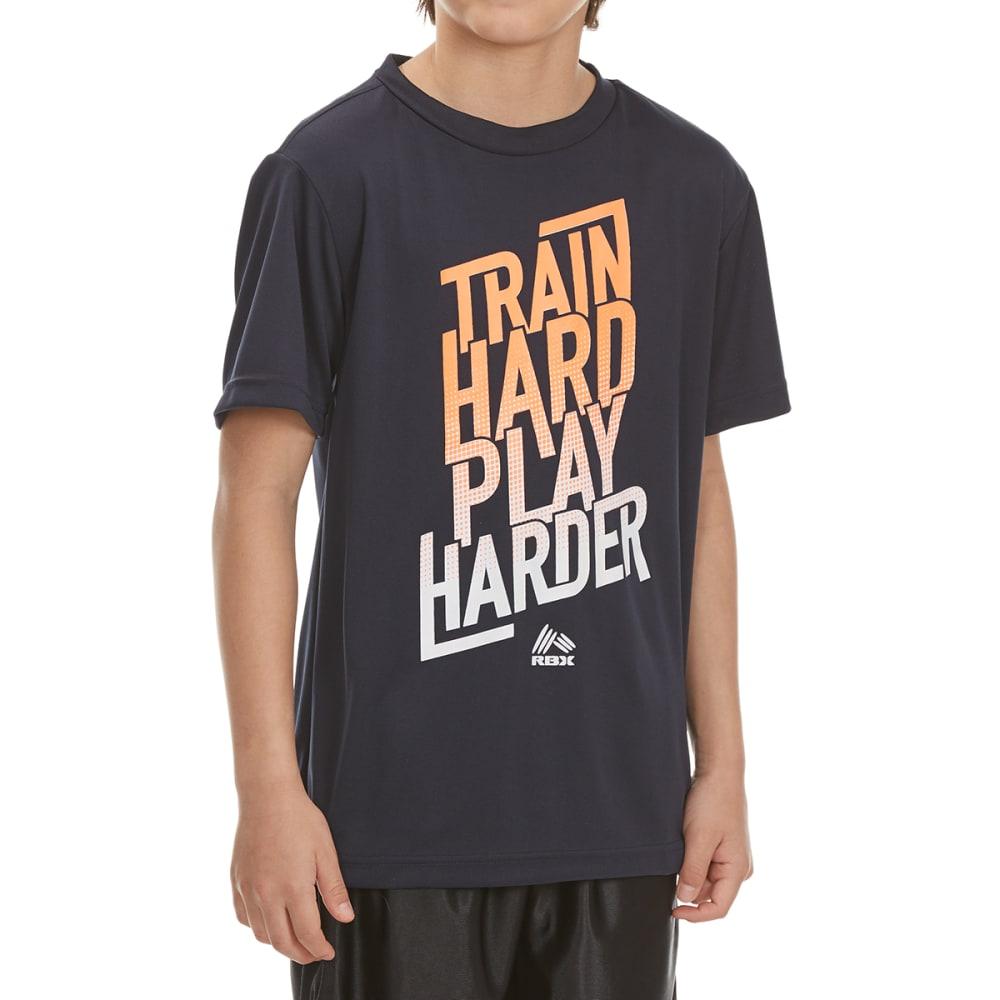 "RBX Boys' ""Train Hard, Play Harder"" Short-Sleeve Tee - NAVY"