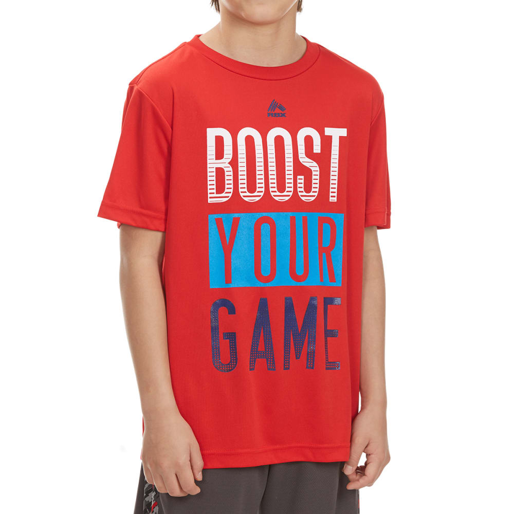 "RBX Boys' ""Boost Your Game"" Short-Sleeve Tee - RED"