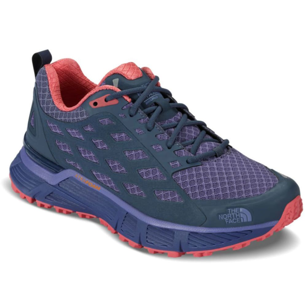 THE NORTH FACE Women's Endurus TR Running Shoes, Coast Fjord Blue/Cayenne Red - COASTAL BLUE