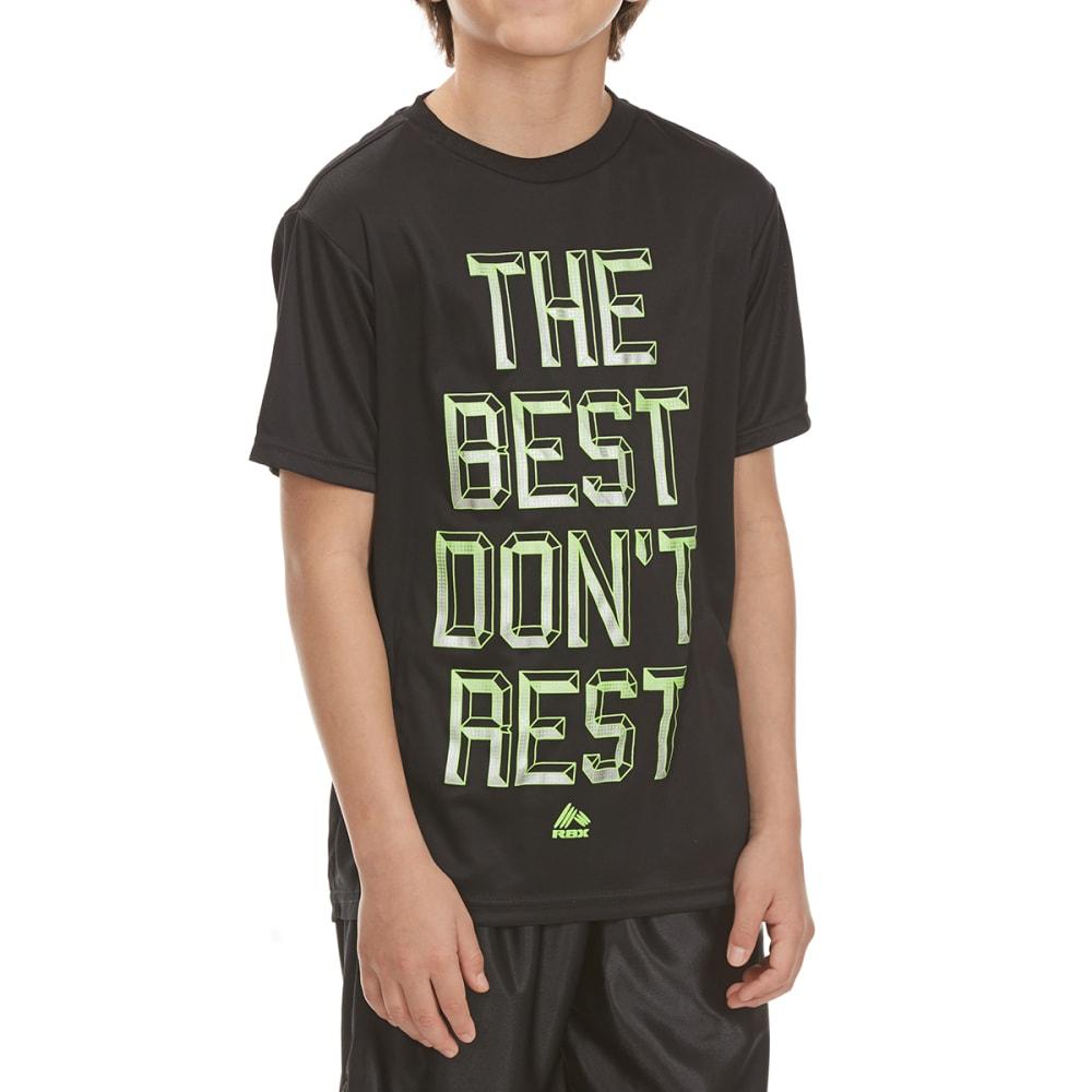 "RBX Boys' ""The Best Don't Rest"" Short-Sleeve Tee - BLACK"