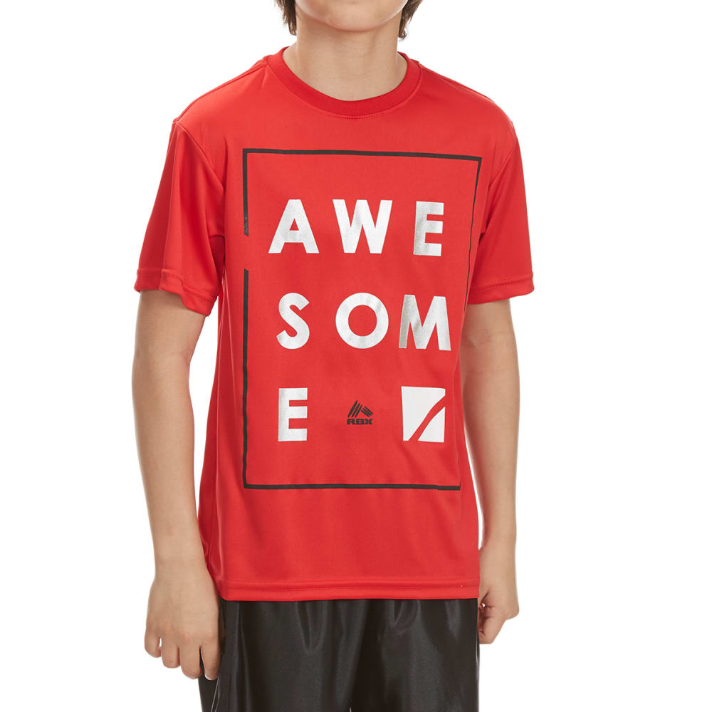 """RBX Boys' """"Awesome"""" Short-Sleeve Tee - RED"""