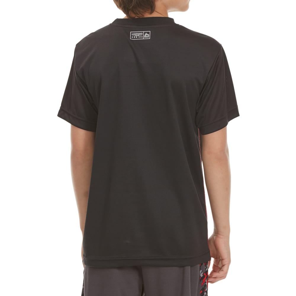 RBX Boys' Blocked Solid Digital Camo Short-Sleeve Tee - BLACK