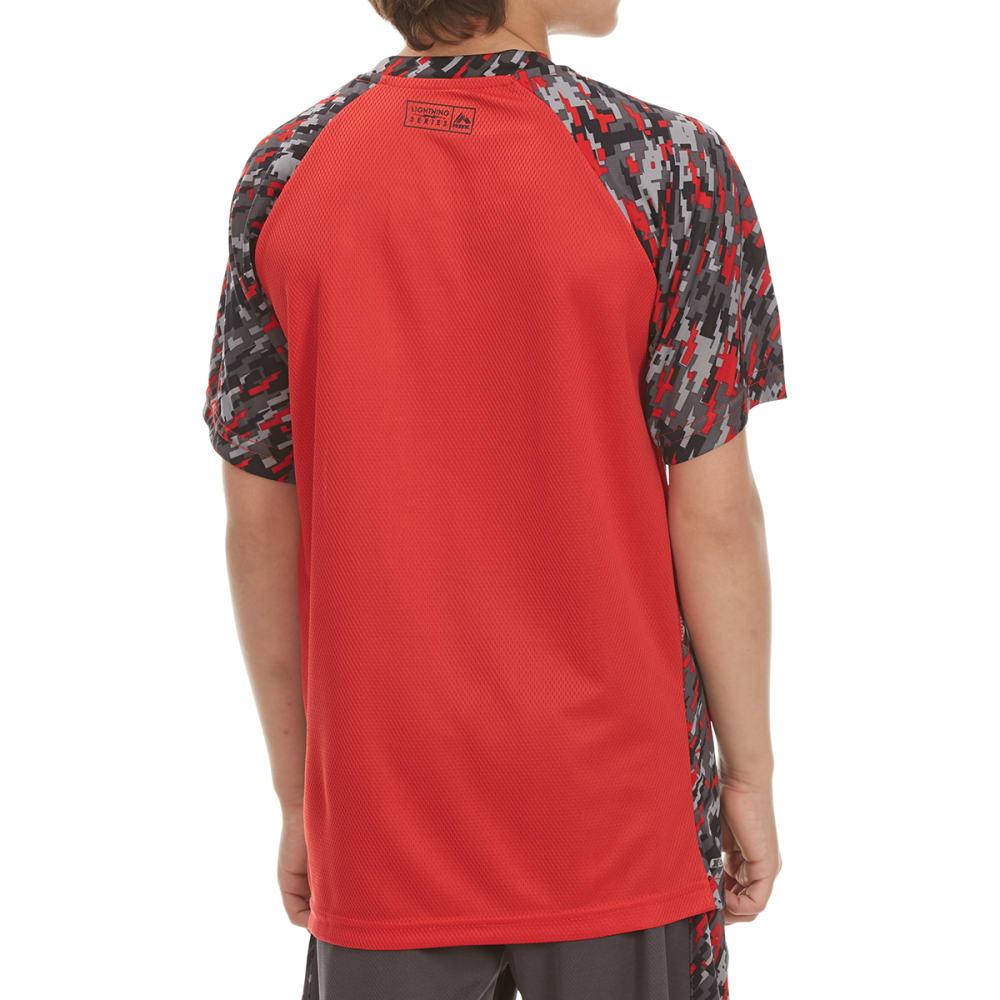 RBX Boys' Digital Camo Short-Sleeve Tee - RED